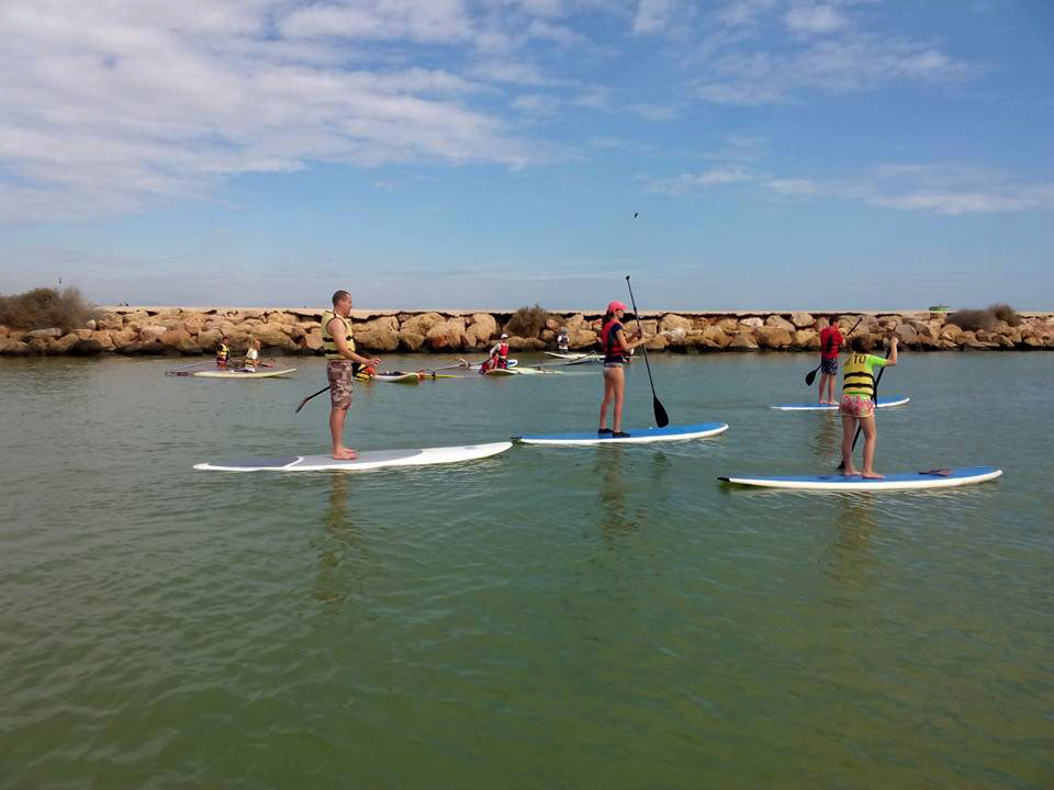 Cursos de paddle surf en Guardamar de Segura, Alicante