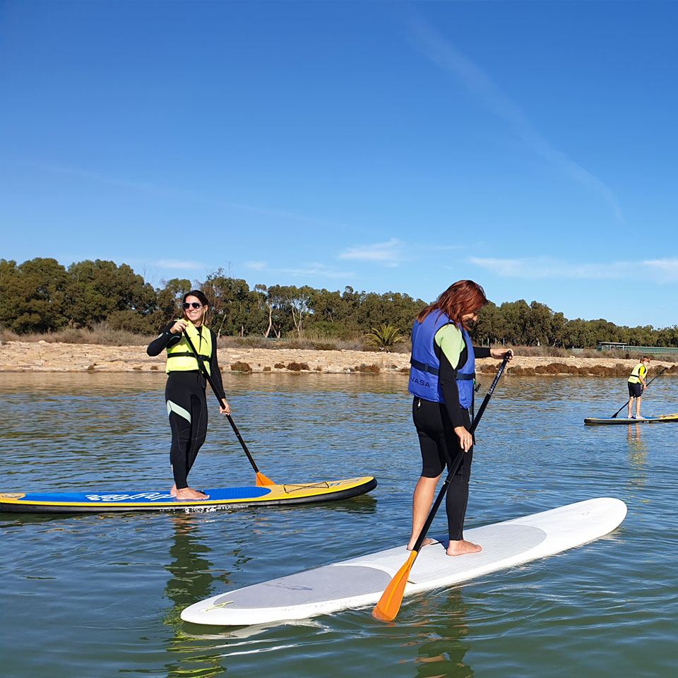 Paddle surf en Guardamr de Segura